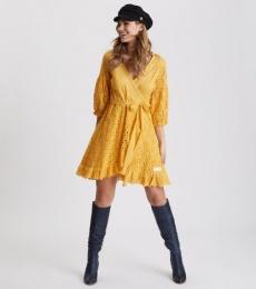 Two Step Flow Dress - Ochre