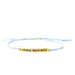 I choose happiness - Gold/Blue