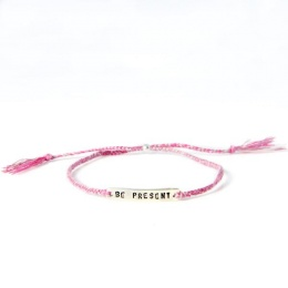 Be present - Silver/Pink