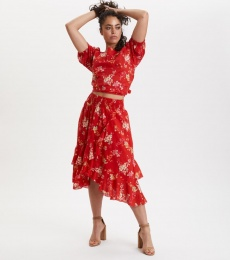 Marvelously Free Skirt - Tulip Red