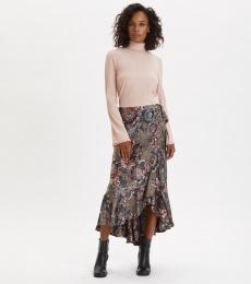 Extravaganca Wrap Skirt - Walnut Brown