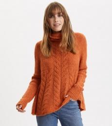 Cozy Hugs Turtleneck - Deep Orange