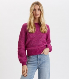 Cool With Wool Sweater - Firework Fuchsia