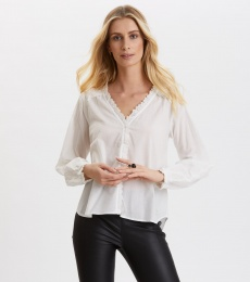 Sleeves Up Blouse - Light Chalk