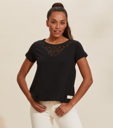 Camille T-shirt - Almost Black
