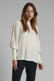 Nudotty Blouse - Wedgewood