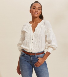 Charlotte Blouse - Light Chalk