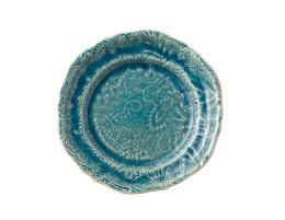 Assiett - Havsblå