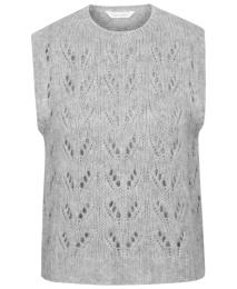 Ava Knitted Vest - Grey Melange