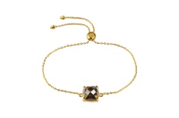Single Cushion Bracelet - Gold Smokey