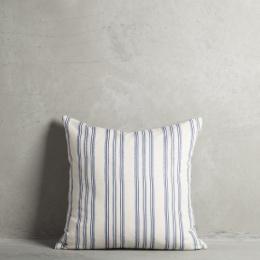 Kuddfodral print 50x50 - Azulblå/Vit