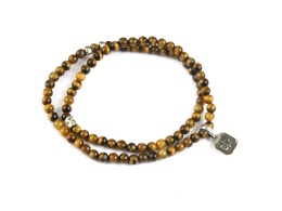 Chris Double Bracelet - Tiger Eye