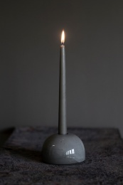 Bulb Candleholder Small - Stone