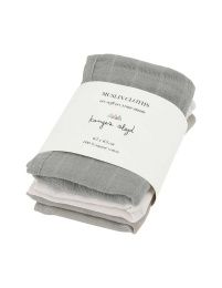 Muslin Cloths 3pc - Lime Stone