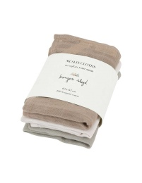 Muslin Cloths 3pc - Rose Dust