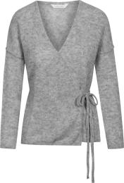 Columbine Knitted Sweater - Grey melange