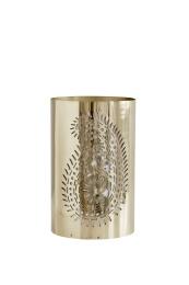 Paisley-Pierced Lantern - Brass