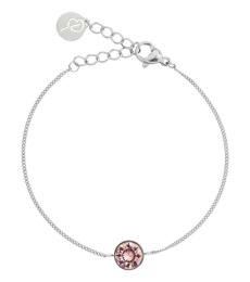 Diana Bracelet - Bubble Gum/Crystal Steel