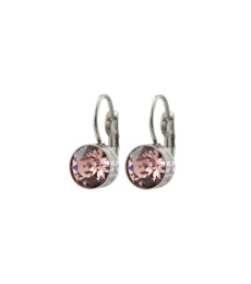 Diana Earrings - Bubble Gum/Crystal Gold