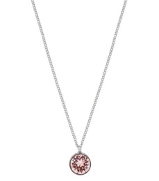Diana Necklace - Bubble Gum/Crystal Steel