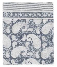 Duk Big Paisley 170x270cm - Sea Blue
