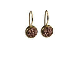 Frances Druzy Earrings -Gold Rose