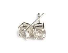Sparkle Earrings - Silver Crystal