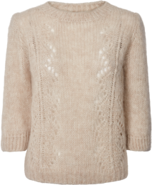 Elinor Knitted Sweater - Nougat Melange