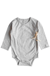 Elna wrap body - Print Light grey