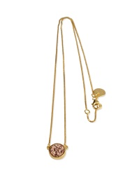Frances Druzy Necklace - Gold Rose