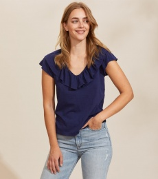 Frill Up Top - Slice Of Blue