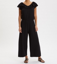 Frill Up Jumpsuit - Almost Black