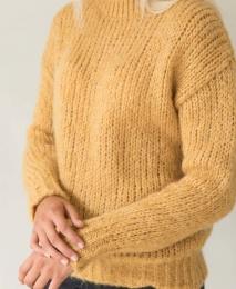 Jenna Knitted Sweater - Mustard