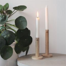 Ljusstake i trä -  15cm