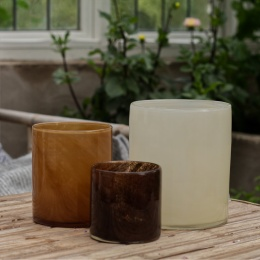 Lyric Candleholder M - Brown