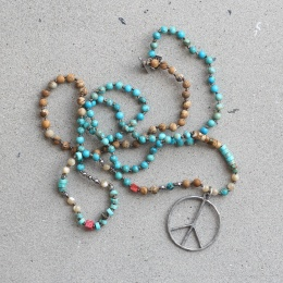 Peace 5 - Turquoise mix