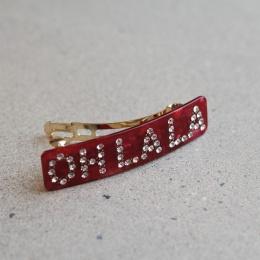 "Hårklämma ""Oh La La"" - Röd"