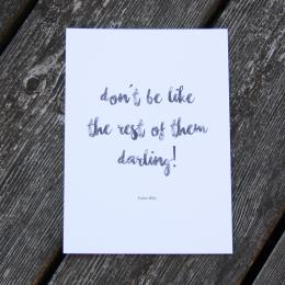 "Darling's kort - ""darling"""