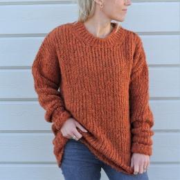 Jenna Knitted Sweater - Orange