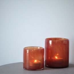 Lyric candleholder S - Tomato Red