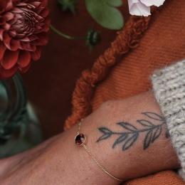 Diana Bracelet - Plum Gold