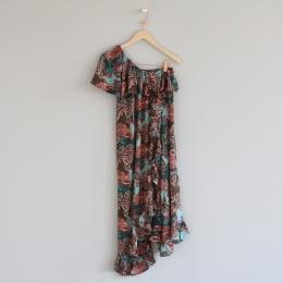 Luanna Off Shoulder Dress - Multifärgad