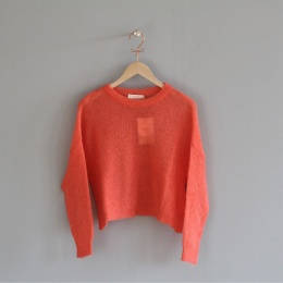 Mohair Knit Boxy Sweater - Blossom