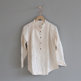 Evolet Double Cotton Blouse - Bone white