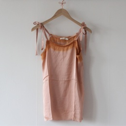 Painted Border Camisole - Blush/Tangerine