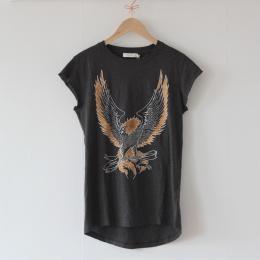 Pheonix Print t-shirt - Faded Black