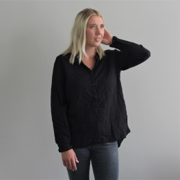 Abena basic shirt - Caviar black