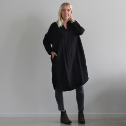 Agnita oversize dress - Caviar black