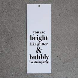Stora kort - Bright like glitter...