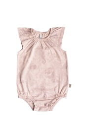 Kajsa romper - Print Vintage pink